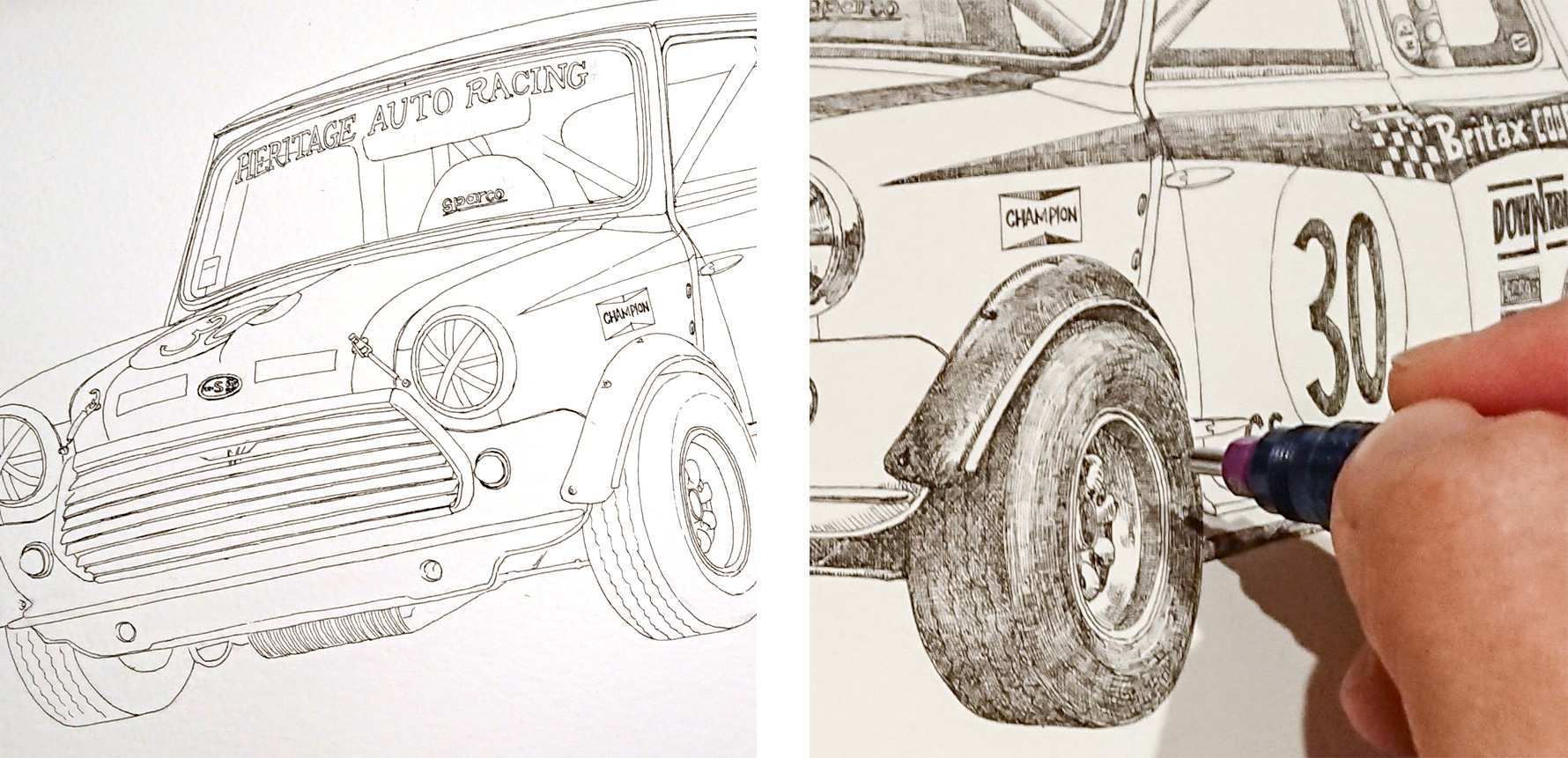 """Morris Mini Cooper S<br> """"Britax"""""""